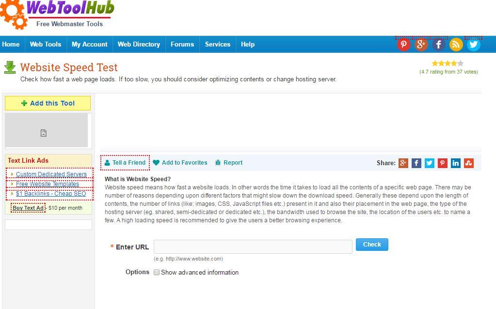 Online WebPagetest Website Performance and Optimization Test