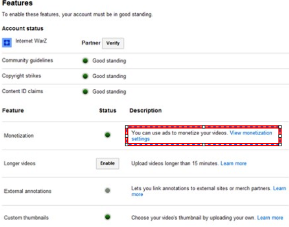 "YouTube's ""channel settings"""